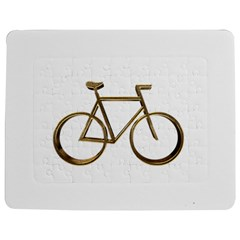Elegant Gold Look Bicycle Cycling  Jigsaw Puzzle Photo Stand (rectangular)