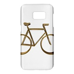 Elegant Gold Look Bicycle Cycling  Samsung Galaxy S7 Hardshell Case