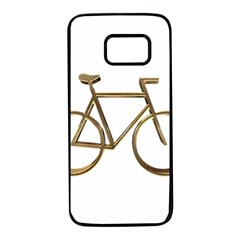 Elegant Gold Look Bicycle Cycling  Samsung Galaxy S7 Black Seamless Case