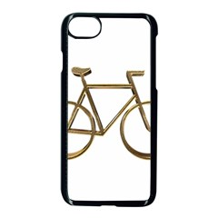 Elegant Gold Look Bicycle Cycling  Apple Iphone 7 Seamless Case (black)