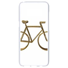Elegant Gold Look Bicycle Cycling  Samsung Galaxy S8 White Seamless Case