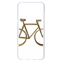 Elegant Gold Look Bicycle Cycling  Samsung Galaxy S8 Plus White Seamless Case