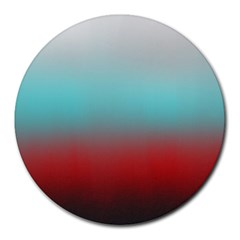 Frosted Blue And Red Round Mousepads