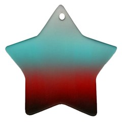 Frosted Blue And Red Ornament (star)
