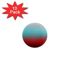 Frosted Blue And Red 1  Mini Magnet (10 Pack)