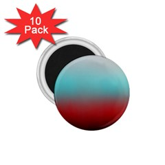 Frosted Blue And Red 1 75  Magnets (10 Pack)
