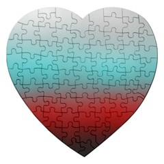 Frosted Blue And Red Jigsaw Puzzle (heart)