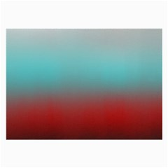 Frosted Blue And Red Large Glasses Cloth (2 Side)