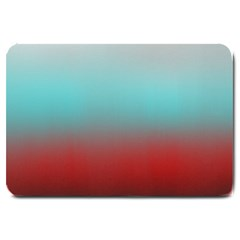 Frosted Blue And Red Large Doormat