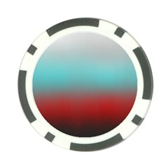 Frosted Blue And Red Poker Chip Card Guard