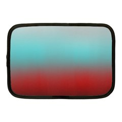 Frosted Blue And Red Netbook Case (medium)