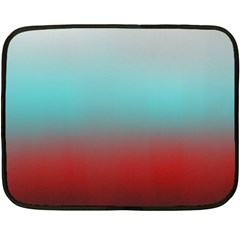Frosted Blue And Red Double Sided Fleece Blanket (mini)