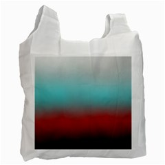 Frosted Blue And Red Recycle Bag (two Side)