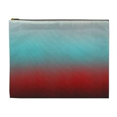 Frosted Blue And Red Cosmetic Bag (xl)