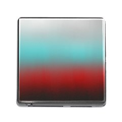 Frosted Blue And Red Memory Card Reader (square)