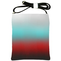 Frosted Blue And Red Shoulder Sling Bags