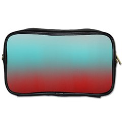 Frosted Blue And Red Toiletries Bags