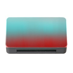 Frosted Blue And Red Memory Card Reader With Cf