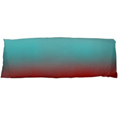 Frosted Blue And Red Body Pillow Case Dakimakura (two Sides)