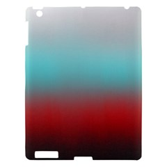 Frosted Blue And Red Apple Ipad 3/4 Hardshell Case