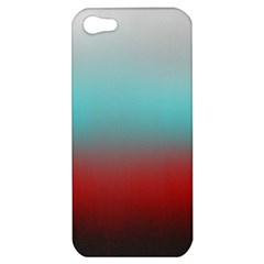 Frosted Blue And Red Apple Iphone 5 Hardshell Case