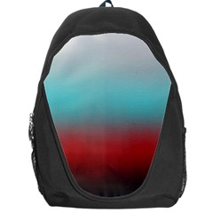 Frosted Blue And Red Backpack Bag