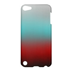 Frosted Blue And Red Apple Ipod Touch 5 Hardshell Case