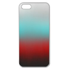Frosted Blue And Red Apple Seamless Iphone 5 Case (clear)