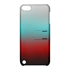 Frosted Blue And Red Apple Ipod Touch 5 Hardshell Case With Stand