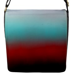Frosted Blue And Red Flap Messenger Bag (s)