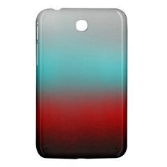 Frosted Blue And Red Samsung Galaxy Tab 3 (7 ) P3200 Hardshell Case