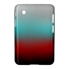Frosted Blue And Red Samsung Galaxy Tab 2 (7 ) P3100 Hardshell Case