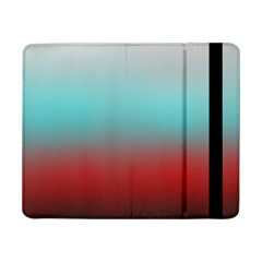 Frosted Blue And Red Samsung Galaxy Tab Pro 8 4  Flip Case
