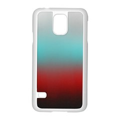 Frosted Blue And Red Samsung Galaxy S5 Case (white)