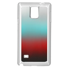 Frosted Blue And Red Samsung Galaxy Note 4 Case (white)