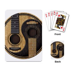 Old And Worn Acoustic Guitars Yin Yang Playing Card