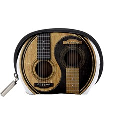 Old And Worn Acoustic Guitars Yin Yang Accessory Pouches (small)