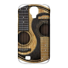 Old And Worn Acoustic Guitars Yin Yang Samsung Galaxy S4 Classic Hardshell Case (pc+silicone)