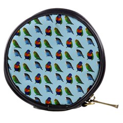 Blue Birds Parrot Pattern Mini Makeup Bags