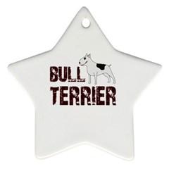 Bull Terrier  Ornament (star)