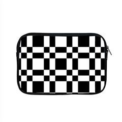 Checkerboard Black And White Apple Macbook Pro 15  Zipper Case