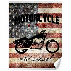 Motorcycle Old School Canvas 18  X 24