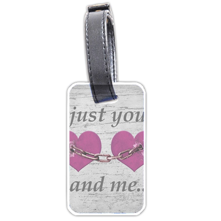 Shabby Chich Love Concept Poster Luggage Tags (One Side)