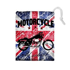 Motorcycle Old School Drawstring Pouches (large)