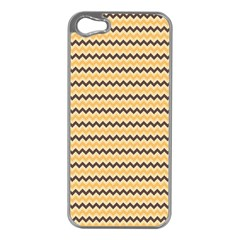 Colored Zig Zag Apple Iphone 5 Case (silver)