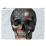 American flag skull Cosmetic Bag (XXL)  Front