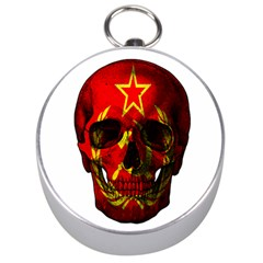 Russian Flag Skull Silver Compasses