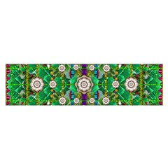 Pearl Flowers In The Glowing Forest Satin Scarf (oblong)