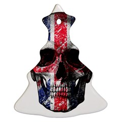 Uk Flag Skull Ornament (christmas Tree)