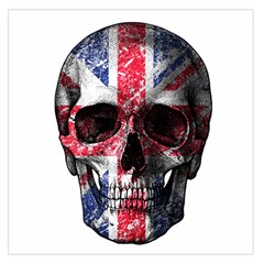 Uk Flag Skull Large Satin Scarf (square)